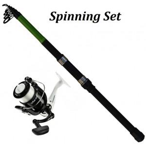 Καλάμι & Μηχανισμός Set Spin 10-30gr 1.80m