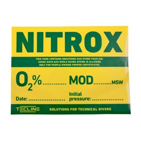Tecline Αυτοκόλλητο NITROX 30 x 22,5cm Διάφορα Αξεσουάρ