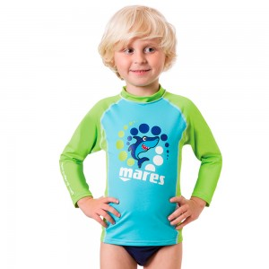 Mares Rash Guard Kid L/S Πράσινο
